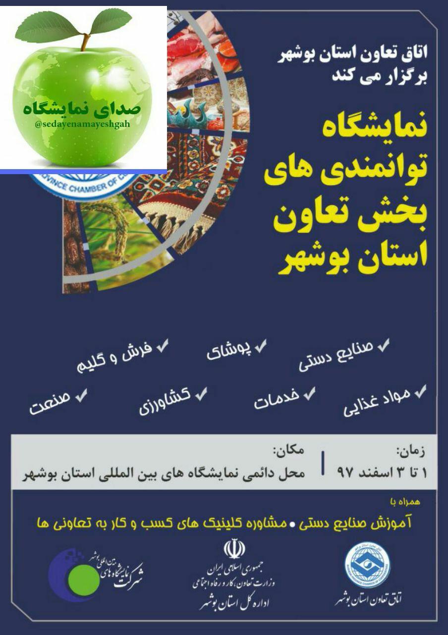 غرفه سازی در نمایشگاه توانمندیهای بخش تعاون استان بوشهر